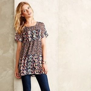 Anthropologie Wolven Idoya Patterned Tunic Top